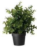 Ikea Artificial Potted Plant Jade 23cm Lifelike Nature Herb Decoration Fejka