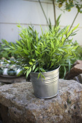 Ikea Artificial Potted Plant Bamboo 28cm Lifelike Nature Houseplant Decoration Fejka- WITH METAL POT!