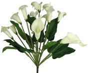 48cm Elegant Silk Calla Lily Flower Wedding Bush - White/Cream 278