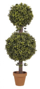 House of Silk Flowers Artificial Boxwood Double Ball Topiary, 0.6m