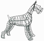 Schnauzer Topiary Frame - 48cm - Made in USA - Best on the Market