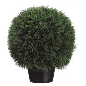 Silk Décor Cedar Ball Topiary in Pot, 50cm , Green