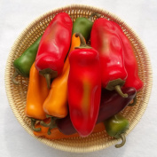 Moving Box 10pcs Artificial Lifelike Simulation Chilli Fake Pepper Vegetable (Yellow, Red, Wine Red, Green, Dark Red) Each Colour 2PCS