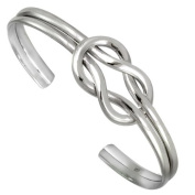 Cape Cod Nautical Sailor's Love Knot Sterling Silver Cuff Bracelet