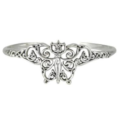 Sterling Silver Fairy Pentacle Pentagram Bracelet Wiccan Faerie Jewellery