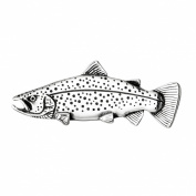 Sterling Silver Trout Fish Pin