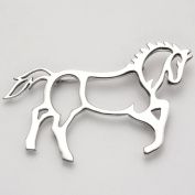 Sterling Silver Large Cutout Trotting Horse Pin