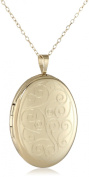 Momento Lockets Gold Over Silver Oval Shaped Locket Necklace