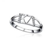 Kappa Delta Horizontal Silver Ring