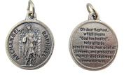 Catholic Keepsake Gift 1.9cm Dia Saint St Raphael the Archangel with Prayer Proection Medal Pendant Charm