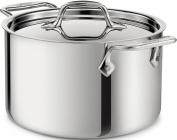 All-Clad 4303 Stainless Steel Tri-Ply Bonded Dishwasher Safe Casserole with Lid Cookware, Silver