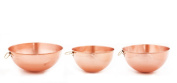 Set of 3 Solid copper beating bowls