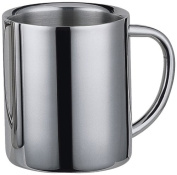 "Visol ""Java"" Double Walled Stainless Steel Mug, 380ml, Chrome"