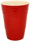 Island Dogs Giant Ceramic Cup, Red