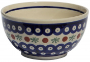Polish Pottery Ice Cream / Cereal Bowl From Zaklady Ceramiczne Boleslawiec #971-41 Traditional Pattern, Height
