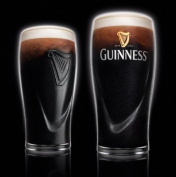 Guinness Irish Pint Beer Glasses 470ml - Set of 2