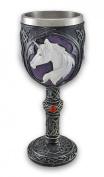 Pewter Look Celtic Knot Unicorn Head Wine Goblet