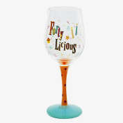 40th Birthday Forty-licious Wine Glass Er28533
