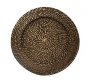 33cm Round Rattan Charger Plate