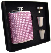 "Visol ""Kylie"" Bling Flask Gift Set, 180ml, Pink"