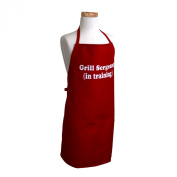 """Flirty Aprons Boy's Original """"Grill Sergeant in Training"""" Apron, Red"""