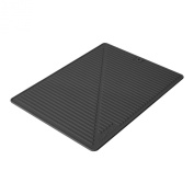 Final Touch FTA1880-7 Silicone Glass Drying Mat, Black