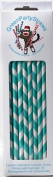 Teal Paper Straws - Pack of 50