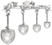 Ganz 4-Piece Measuring Spoons Boxed with Rack, Birds