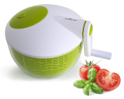 Culina, Space saver Compact Salad Spinner, 2.8l. BPA-Free, Top of the Line, Durable Construction, High End Design, Ergonomic Features, Food Safe, Fast, Easy, Effortless, High Performance Spin for Healthy Benefits, Suited to Vegan, Vegetarian, Paleo Diet