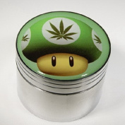 Green Mushroom With Weed Fashion Design Indian Aluminium Spice Herb Grinder