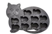 Fairly Odd Novelties Novelty Gag Gift Cat Kitten Shape 10-Ice Cube Tray Mould, Rubber, Black