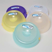 2pk 25cm Assorted Plastic Microwave Plate Cover Steam Vent Food Lid New