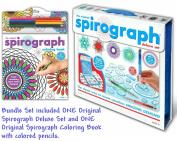 Kahootz Spirograph Deluxe Design Set with Spirograph Colouring Book & Pencils Kit