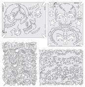 Artool Freehand Airbrush Templates, Return Of Skullmaster Set