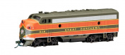 Bachmann Industries EMD F7-A Diesel Locomotive DCC Equipped Great Northern Train Car, Green/Orange, N Scale