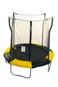 Propel Trampolines P7D-YB Indoor/Outdoor Trampoline with Enclosure, 2.1m Round by 220cm Tall, Yellow and Black Frame Pad