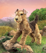 Hand Puppet - Folkmanis - Terrier Airedale New Animals Soft Doll Plush Toys 2993