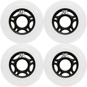 OUTDOOR Inline Skate Wheels ASPHALT Formula 76MM 89a WHITE x4