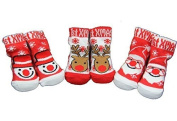New 3 pairs of Christmas socks Red & White - unisex baby 0-6 months
