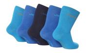 5 Pairs JBB07 Baby Boys cotton Jeep Socks Plain Blues 6-12 months