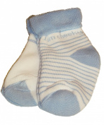 Baby Boys 2-Pack Terry Towelling Socks - White/ Blue (0-2.5