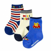 3 Pair Baby Boy Cute Bear Car Striped Stripe Multicolor Socks