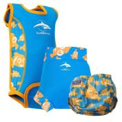 Konfidence Babywarma and Swim Nappies Set Clownfish X Large - 12 to 18 Months