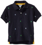 Kitestrings Baby-Boys Infant Embroidered Pique Polo, Blue Novelty, 6-9 Months Colour