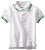 Kitestrings Baby-Boys Infant Pique Solid Short Sleeve Polo, White, 24 Months Colour