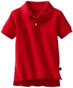 Kitestrings Baby-boys Infant Solid Pique Polo Shirt, Red, 6-9 Months Colour
