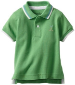 Kitestrings Baby-Boys Infant Pique Short Sleeve Polo, Preppy Green, 12 Months Colour
