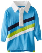 Kitestrings Baby-Boys Infant Jersey Multi Colour Striped Rugby Polo, Surf Blue, 12 Months Colour