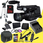 Panasonic HC-MDH2 AVCHD Shoulder Mount Camcorder (PAL) + 32GB SDHC Class 10 Memory Card + 49mm 3 Piece filter Kit + Carrying Case + Full Size Tripod + SDHC Card USB Reader + Memory Card Wallet + Deluxe Starter Kit DavisMax Bundle