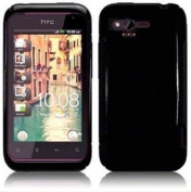 Sogawireless Rubber Gel Flexible TPU Crystal Black Phone Cover Soft Sleeve Case For Htc Rhyme / Bliss, Verizon